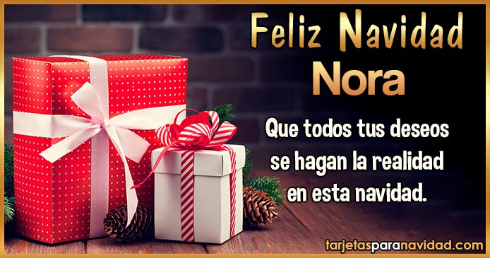 Feliz Navidad Nora