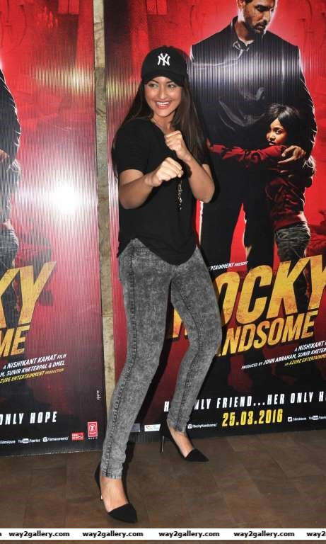 Sonakshi Sinha posted on Twitter Rock solid and definitely handsome TheJohnAbraham is rocky handsome Flawless action and Super entertaining Dont miss it