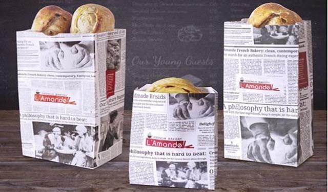 cara membuat paper bag dari koran gulung