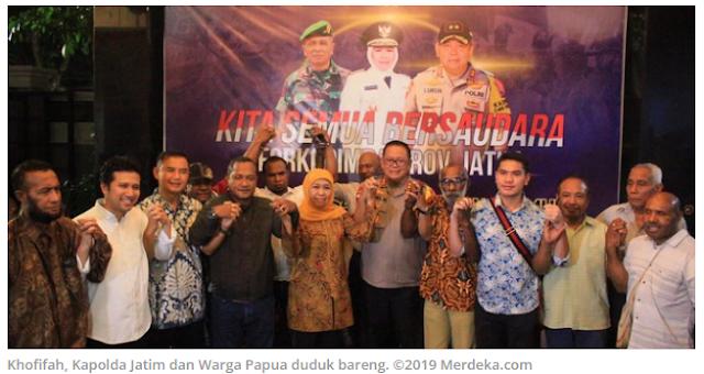 Tangkal Hoaks, Khofifah, Kapolda Jatim dan Warga Papua di Surabaya Duduk Bareng