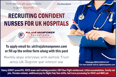 RECRUITING NURSES TO GOVT SECTOR HOSPITALS IN UNITED KINGDOM (UK)