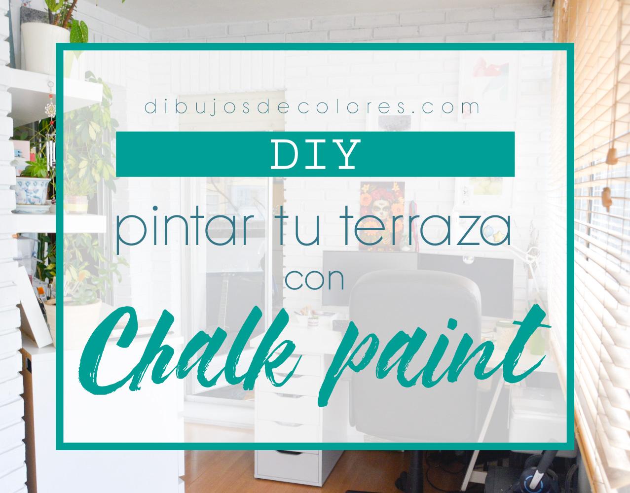 Diy pintar terraza con chalk paint