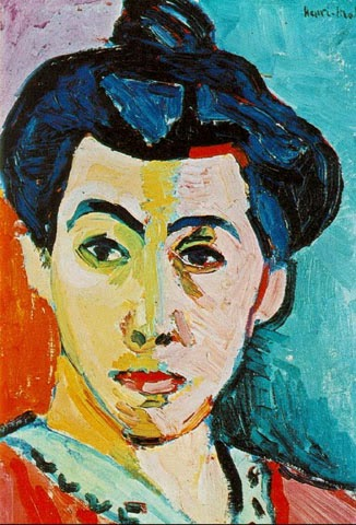 Listra Verde - Pinturas de Matisse, Henri - (Fauvismo) Francês