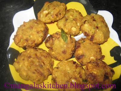 Thinai Masala Vadai - Healthy Masala Vada Recipe with Foxtail Millet