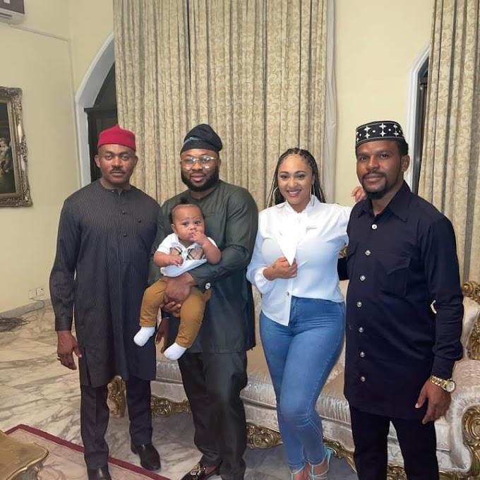 Dr. Maduka Receives New Baby And Family Of Churchill At His Lekki Mansion