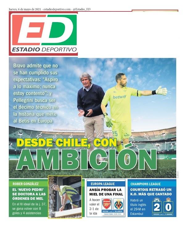 """Betis, Estadio Deportivo: """"Desde Chile, con ambición"""""""