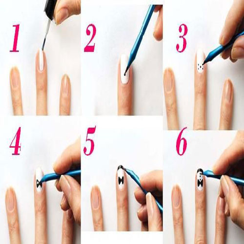 To Create A Simple Nail Art You Just Need Polish As Your Favorite Color And Step By Nails Created Show In Images
