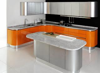 cocina ne naranja y plata