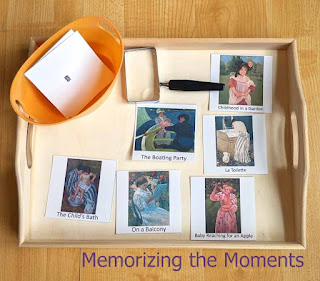 Montessori Magnifying Glass Match-Up Activity with Famous Art