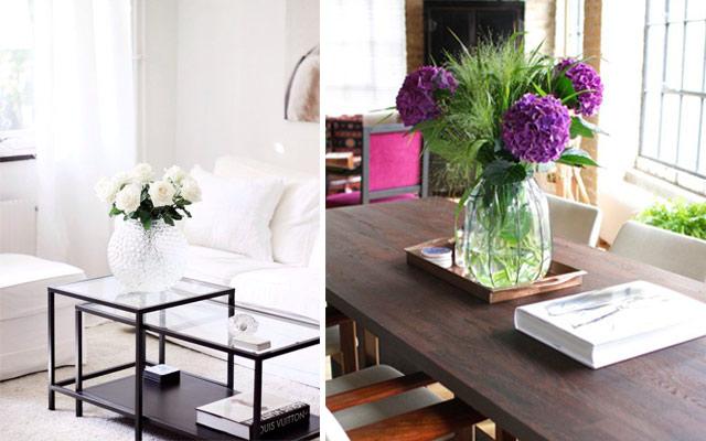 Marzua ideas para decorar centros de mesa for Decorar mesa de salon