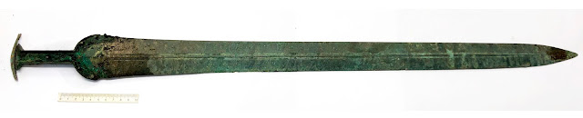 Perfectly preserved Bronze Age sword found in Denmark