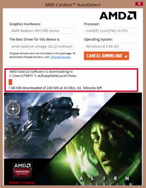 تحميل التعريف الخاص بكارت الشاشة AMD الموجود في جهازك