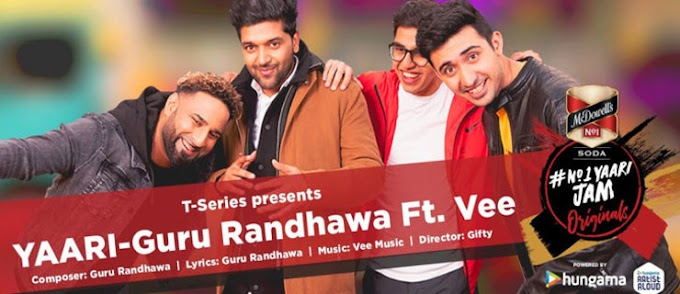 YAARI LYRICS – Guru Randhawa | Happy New Yaar|Ft. Vee