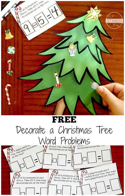 decorate a Christmas tree addition and subtraction word problems