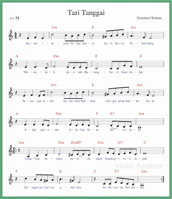 not balok lagu tari tanggai 2