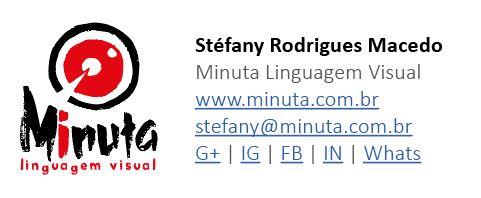 Exemplo de aplicação de logotipo em assinatura de e-mail Minuta Linguagem Visual