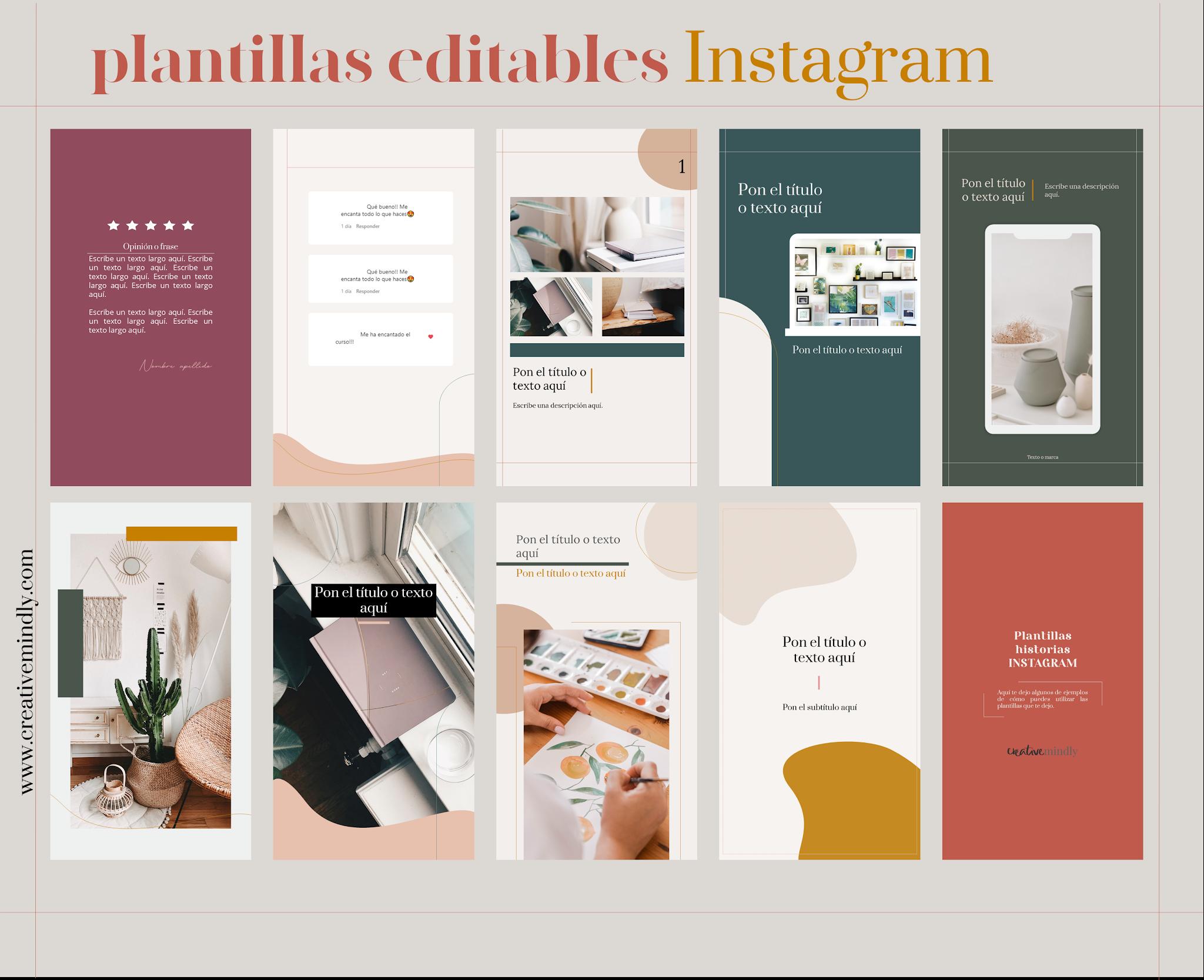 plantillas editables instagram historias stories