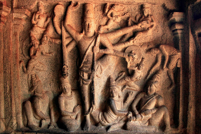 Sculpture panel of Vishnu as Trivikrama