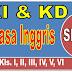 KI DAN KD BAHASA INGGRIS SD/MI KELAS I, II, III, IV, V DAN VI - DOWNLOAD