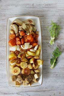 Тофу със зеленчуци на фурна