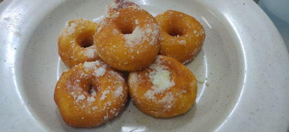 Mini donut mengikut sukatan gram ( adunan sedikit) menggunakan Bread Maker Panasonic  (Chef like)