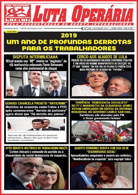 LEIA A EDIÇÃO DO JORNAL LUTA OPERÁRIA Nº 345