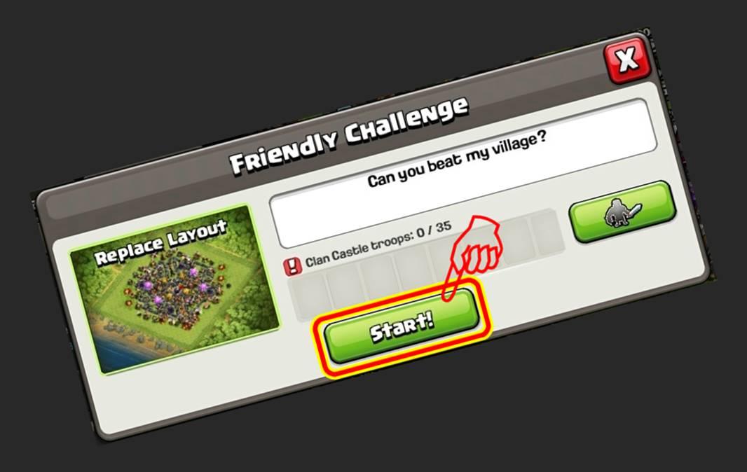 Cara Melakukan Friendly Challenge Battle Attack Melawan Teman di COC