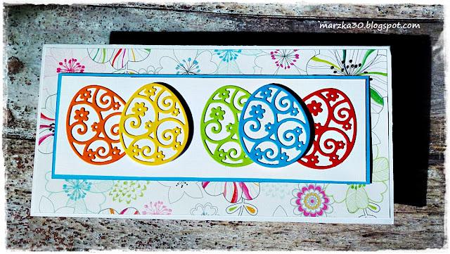 Kolorowe pisanki z wykrojnika