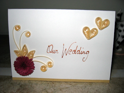 Handmade quilling wedding card designs 2015 - quillingpaperdesign