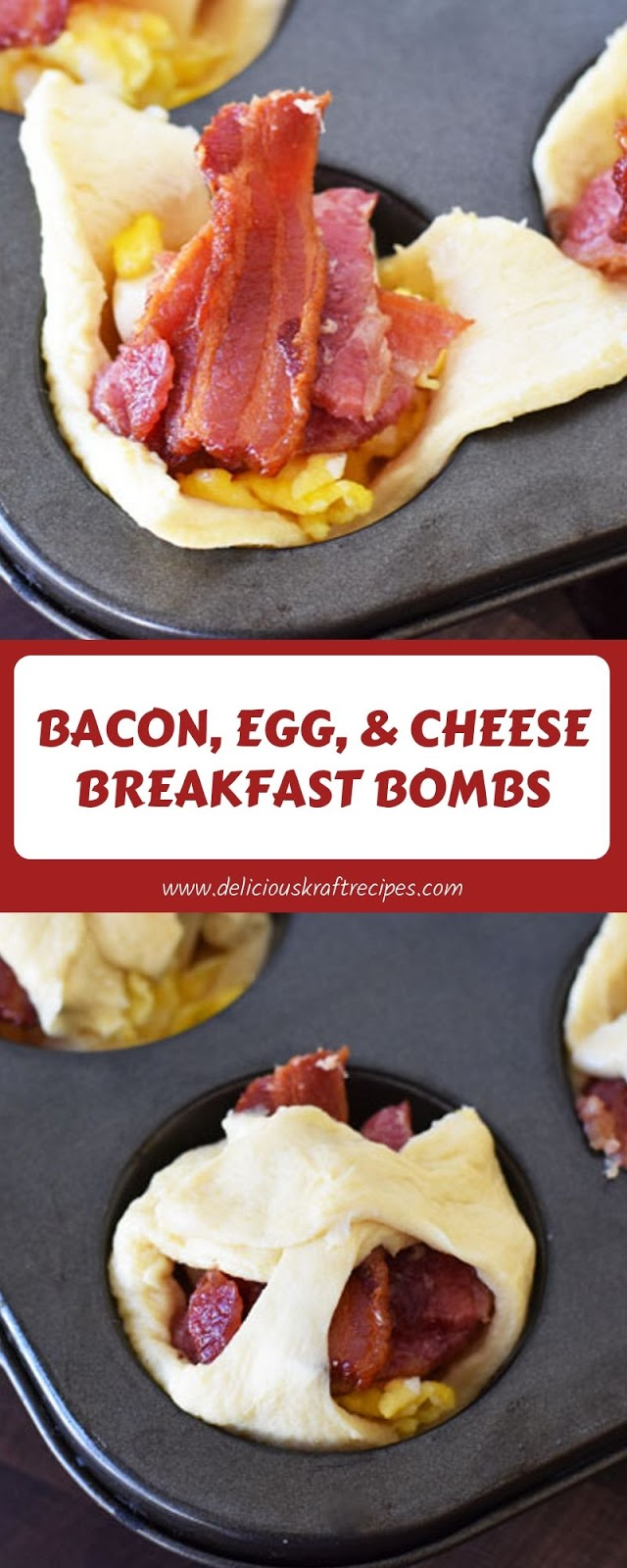 BACON, EGG, & CHEESE BREAKFAST BOMBS