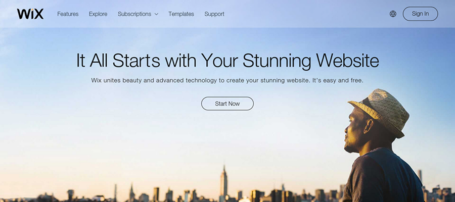 Wix lets you create a stunning website for free