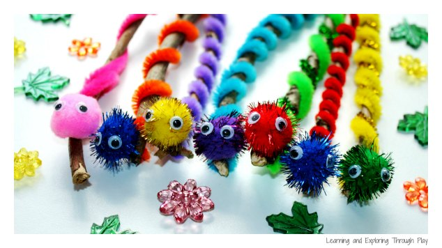 Fine Motor Caterpillar Craft