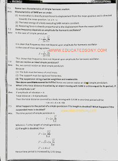 1st year physics chapter 7 short questions,exercise short questions,oscillations
