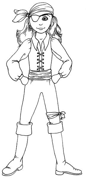 Female pirate drawing - photo#45