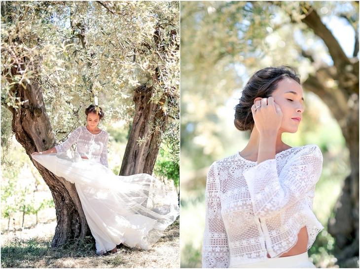 robe mariée provence domaine souviou
