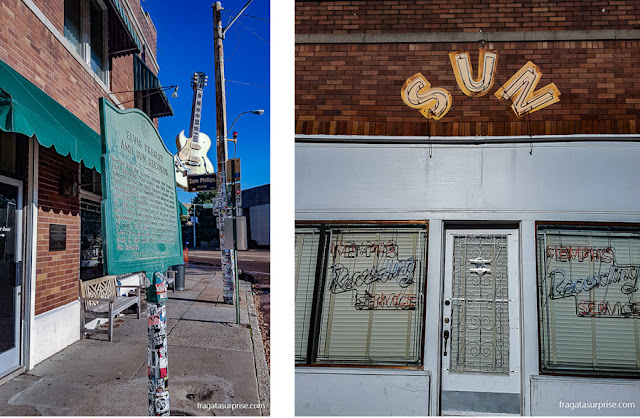 Sun Studio, onde os primeiros clássicos do Rock'n'Roll foram gravados