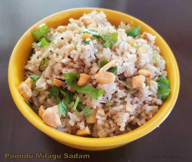 images of Garlic Pepper rice / Poondu Milagu Sadam - Rice Varieties