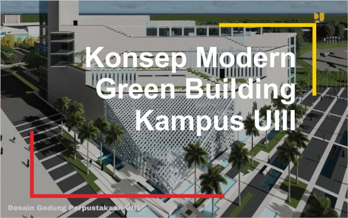 Konse Desain Kampus Modern Green Building