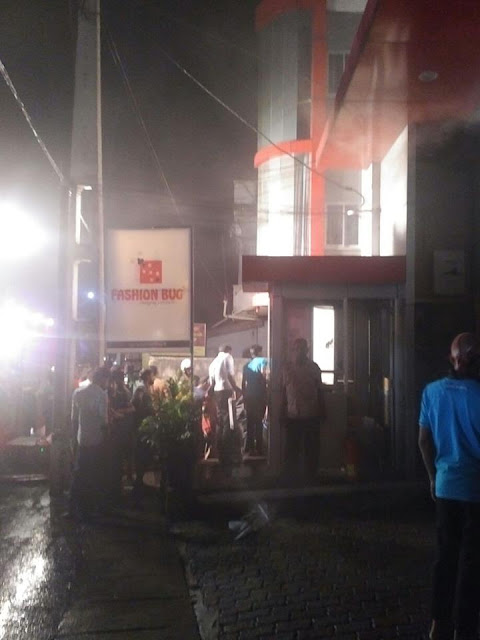 Pepiliyana Fashion Bug store on fire