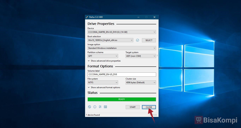 Cara Membuat Bootable Flashdisk Windows 10