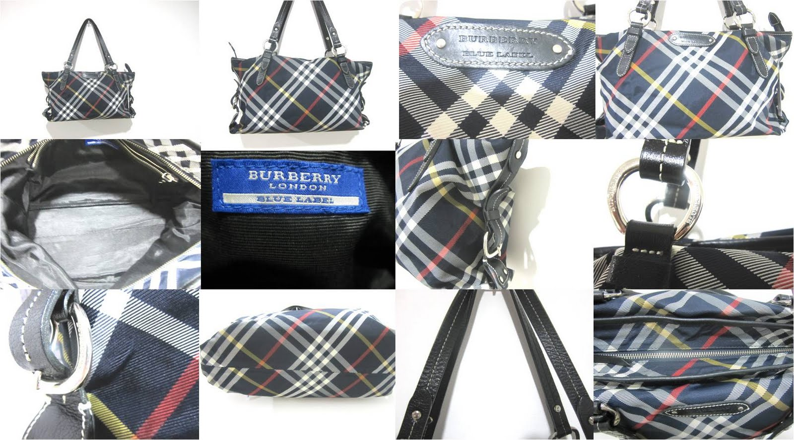 3282656b19a058 BURBERRY BLUE LABEL BLACK CHECKERED TOTE (0611-10). SOLD Like Brand New!  Measurement: 36cm (l) x 23cm (h) x 15cm (w) NOW ON SALE RM1100! Previously  RM1250