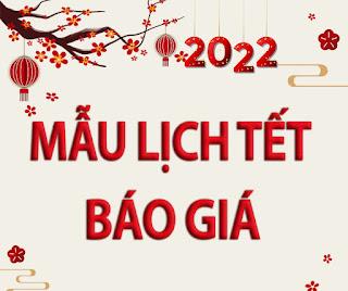 MẪU LỊCH TẾT 2022