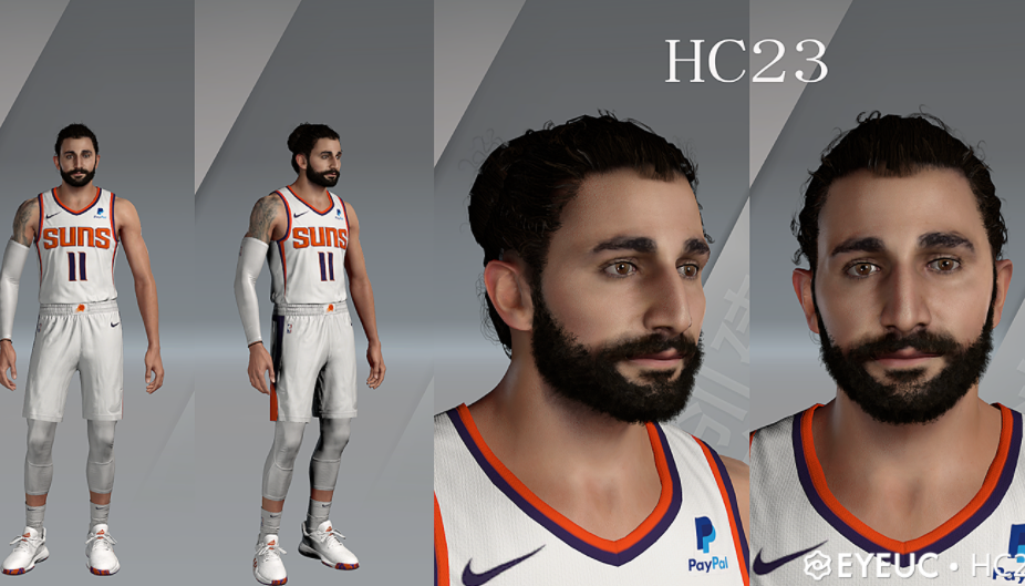 Ricky Rubio Cyberface, Hair and Body Model By HC23 [FOR 2K21]