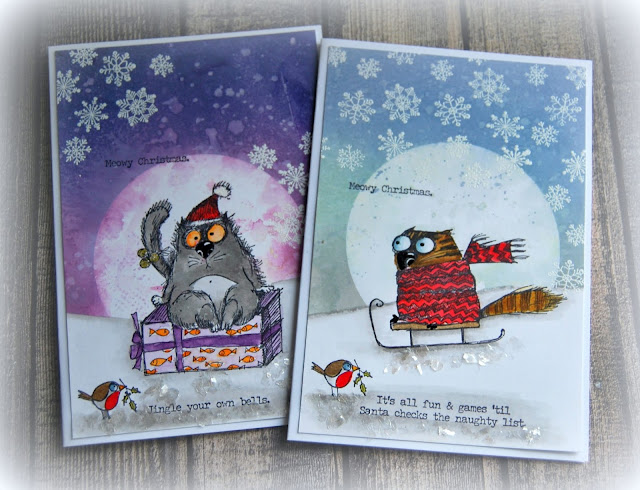 Kath S Blog Diary Of The Everyday Life Of A Crafter Tim Holtz Stampers Anonymous Snarky Cat Christmas