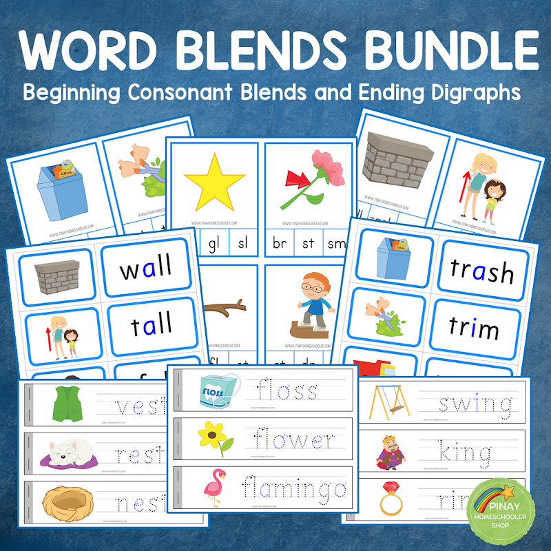 Blues Series: Consonant Blends with Ending Digraphs Learning Material