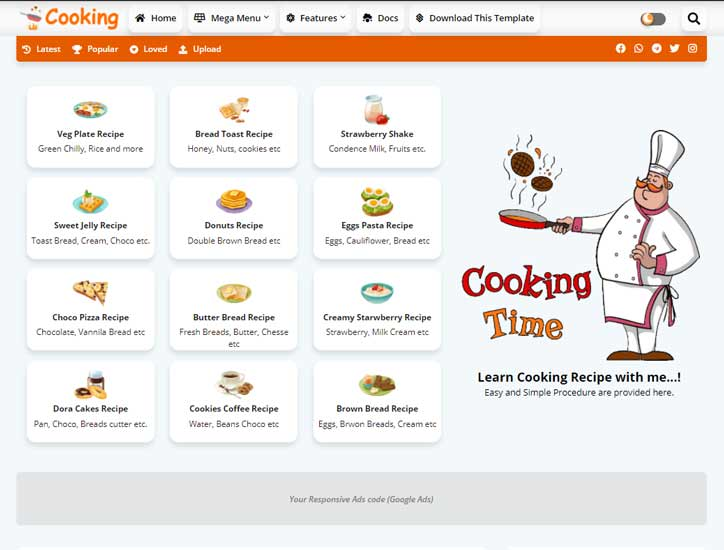 Blogger Template Cooking