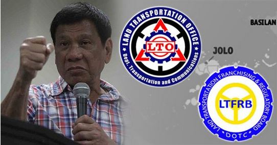 Duterte Threathens Corrupt LTO and LTFRB Officials To Be Assigned To Jolo And Basilan.
