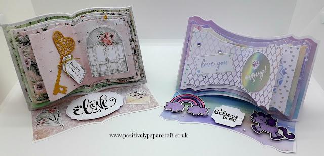 positivelypapercraft open book easel card