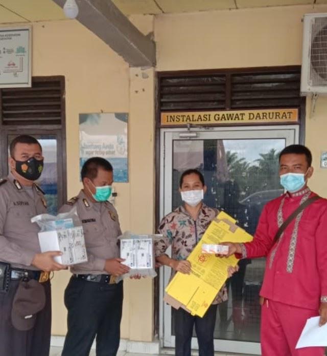 Polsek Bagan Sinembah Jemput Vaksin Sinovac ke Polres Rohil