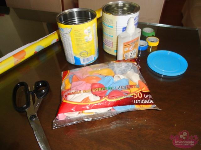 Como reutilizar latas para fazer brinquedos para crianças